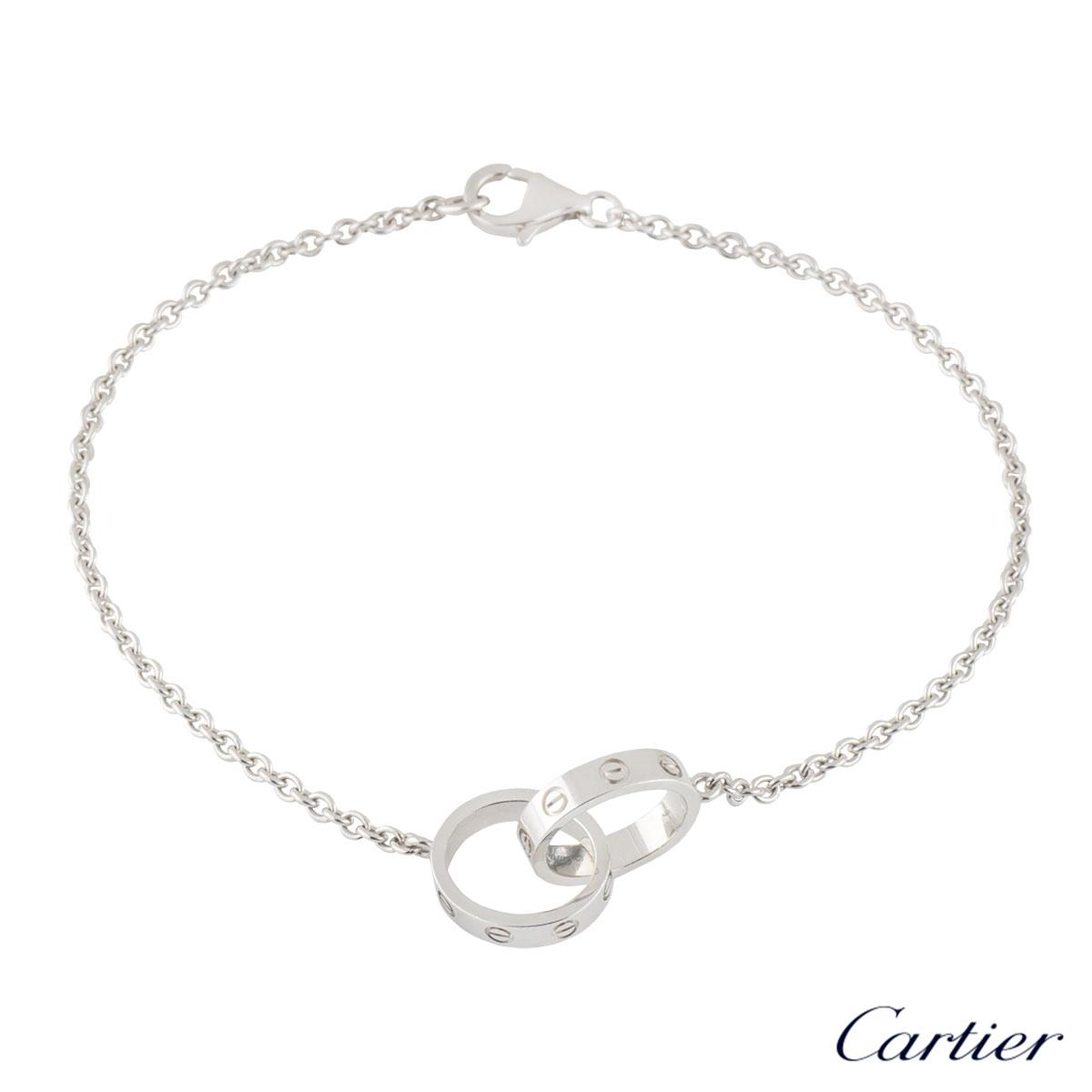 Cartier White Gold Plain Love Bracelet B6027200